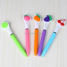 colorful decorative fruit plastic ballpoint pen for promotion
