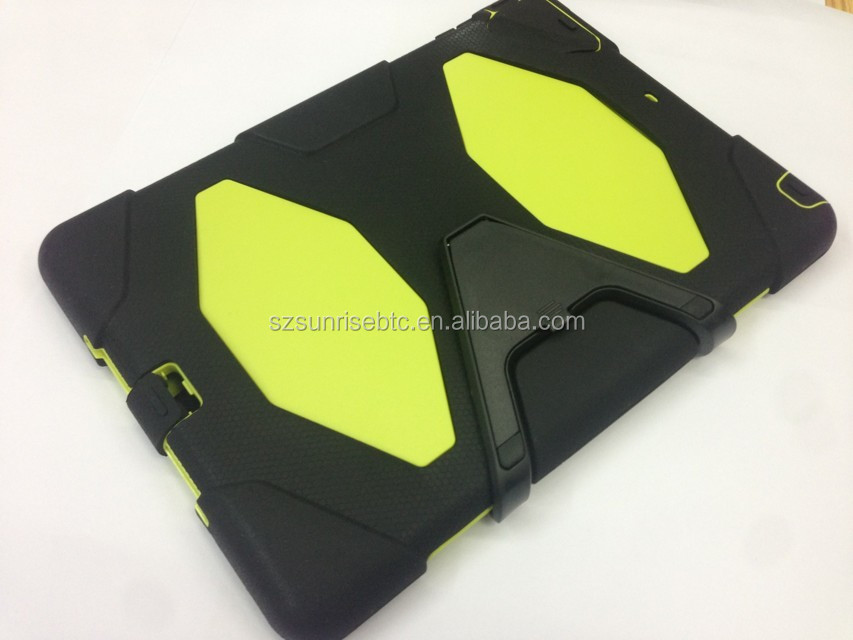 Shockproof case for ipad mini, new plastic silicone standing case for ipad mini , for ipad mini robot standing case