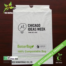 100% biodegradable cornstarch drawstring carrying bags