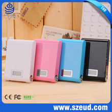 for iphone samsung 5000Mah 5v 1a Lithium universal portable power bank with replaceable battery with LED indicator