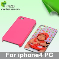 Sublimation personalized cell phone case for iphone4