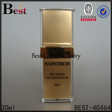 30ml nice quality best price acrylic bottle for skincare, pump head square acrylic container