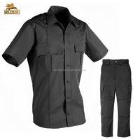 custom color poly/ cotton safety guard uniform design security company uniforms