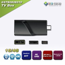 Quad Core android Mini PC Dongle with Gigabit Lan, 4K Decorder, Bluetooth, Support 3G Dongle