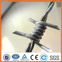 AP Factory supplies 12 Gauge Galvanized Two Strand Double Twist Barbed Wire / pvc coated barbed wire