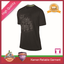 Men's 100% polyester outdoor dri fit/dry fit t-shirt for running