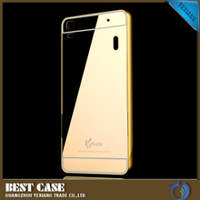 ultra thin metal bumper case for lenovo k3 note mirror phone cover
