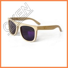 New simple design bamboo sunglasses with custom box