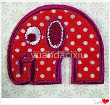 Factory hot sale child iron on embroidered chenille letters and heat seal embroidered letters