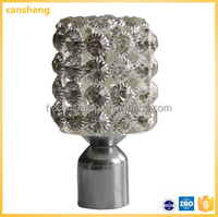new design 2014 best sale extendible metal curtain rod curtain finial
