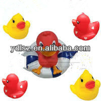 rubber music flashing bath duck toy