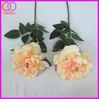 single stem silk artificial bush preserved peony flower