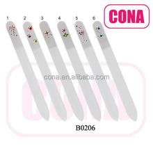 OEM welcome custom printed colorful double side glass nail file B0206