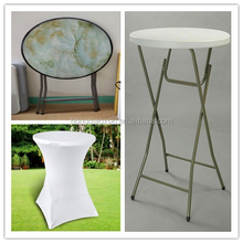Bar table and chair, 2015 new fashion style plastic folding round outdoor bar table,foldable bar table,