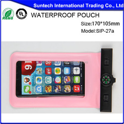 waterproof pouch for cell phone, mobile Waterproof PVC Bag, cellphone waterproof bag
