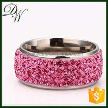 2015 New engagement ring Charm crystal diamond jewel ring, yellow gold diamond ring