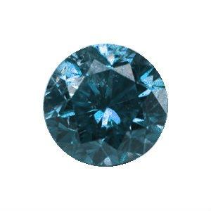 0.10 Carat Blue Diamond ( 2.9 mm )