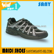 Hot! Men's Custom Made Athletic Sport/Running Shoes with Stylish Upper and Highly Flexible Air Cushion Outsole for Wholesale