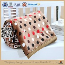 Manufactory alibaba china home textile custom warm flannel fleece blanket organic branded blanket