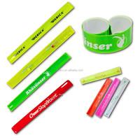 PVC vinyl reflective slap wrap/personalized slap bracelet