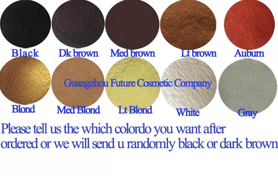 Women Wig Building Keratin Fiber Thinning Hair Powder Refill 25g Toppik Men Instant Conceal Thickener Black/Dark Brown 10 Colors