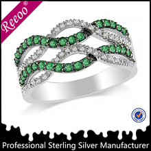 2015 fashion 925 sterling silver rings jewelry with CZ stone