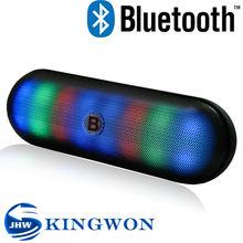 Kingwon new flashed light V3188 portable wireless mini bluetooth speaker 2015 , multimedia mini pill speaker with led light