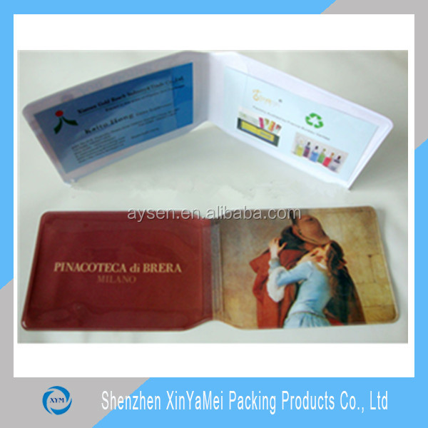 custom gift full color printed pvc oyster card holder