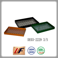 Good Quality Best Choice! Storage Nice Design Designs Available Leather Promotional Serving Tray