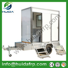 China Huida western/eastern style fiberglass coloured portable toilet outdoor public WC portable toilet