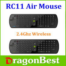 2015 NEW Gyroscope Mini Fly Air Mouse RC11 2.4G wireless Keyboard for google android Mini PC TV Palyer box