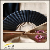 2015 wholesale cheap custom printed folding bamboo and silk hand fans