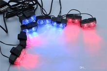 Car Strobe Lights 8x2 LED Flash Warning Light Red And Blue LED Emergency Light