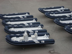 Liya rubber boat 4.2 m rib inflatable boat dinghy for sale