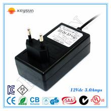power supply 12v 3a ac dc adapter 12v 3a wall adapter EU US UK AU Plug