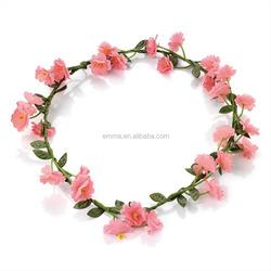 Pale Pink Flower Garland Crown H178