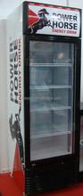 vertical display refrigerator with glass door