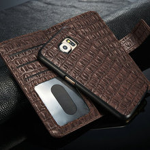 2015 new arrival crocodile for samsung S6 case/pattern leather case, 2 in 1 for Galaxy S6 Case