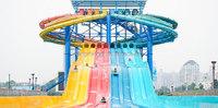 2015 water park athletic sport Rainbow mat sliding water slide amusement park equipment for sale