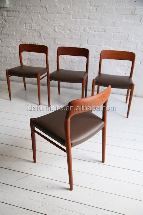 Danish Teak Dining Chairs By Niels Moller  ...