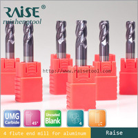 Germany Standard Size Corner Radius End Mill Size/Lathe Cutting Tool Round Nose Milling Cutter Size