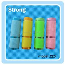 blue yellow green etc led mini flashlight with dry battery