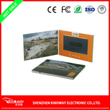 Factory directly sale 7 inch LCD screen video display card video switch greeting card/video brochure/video postcard