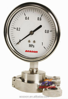 High quality Clamp connection All stainless steel sanitary pressure gauge