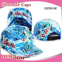 Custom Snapback Flat Cap Hawaii Print Snapback Hats