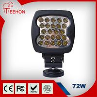 12v led atv work light,car led driving headlight,72w led off road spot/flood light