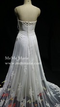 Beautiful Lace Crystal Bridal Gown Backless Ball Gown Sleeveless Wedding Dresses BYB-1503