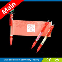 MOQ 100pcs Cheap Retractable Pull Out Banner Pen