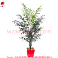 Artificial topiary ficus tree bonsai bamboo tree with green trunk for outdoor use