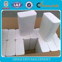 cotton stalk pulp making line, 1575mm 3-4ton/day 150m/min high speed tissue paper machine, wheat straw as raw material